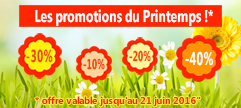 Les promotions du printemps ! !