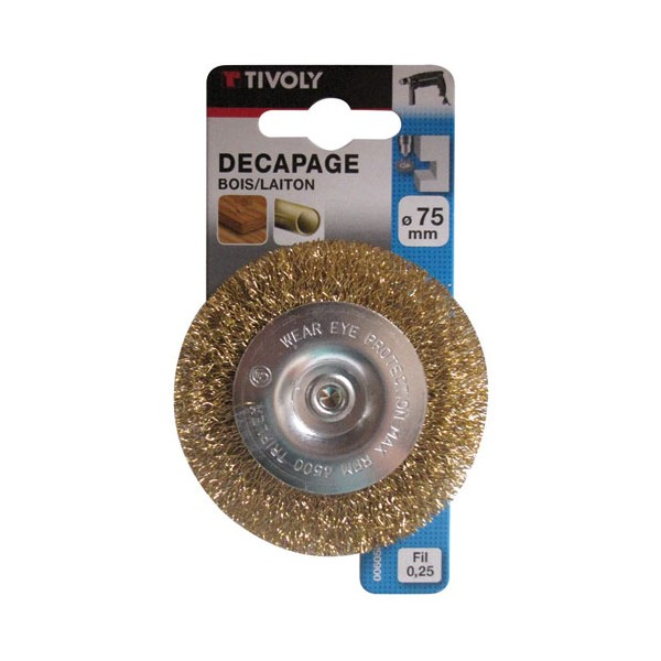 Brosse circulaire - laiton - D: 75 mm - XT20252006058 - TIVOLY