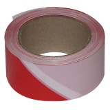 Ruban de chantier - rouge et blanc - 100 m x 50 mm