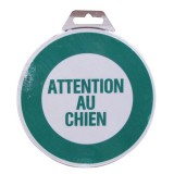Disque - attention au chien - D: 180 mm