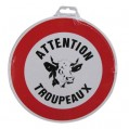 Disque - attention troupeaux - D: 300 mm