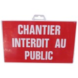 Plaque chantier - interdit au public - 330x200 mm