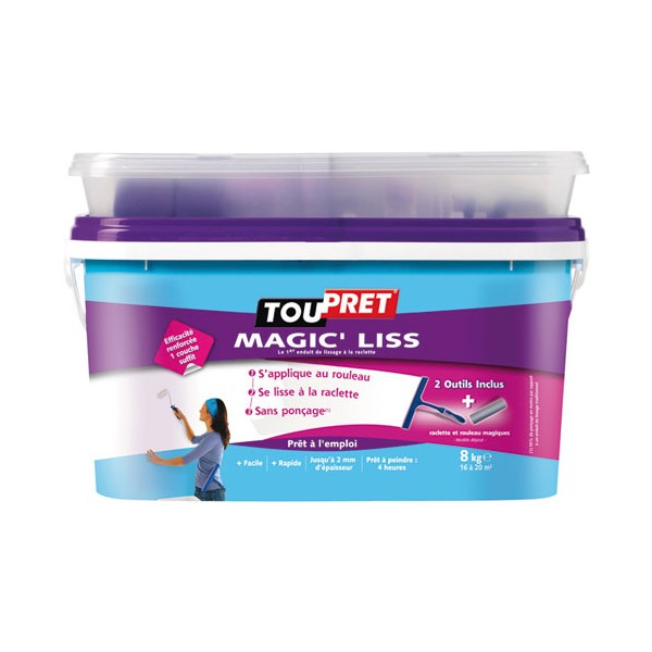 Enduit Magic'liss - 8 Kg  - 151400 - TOUPRET