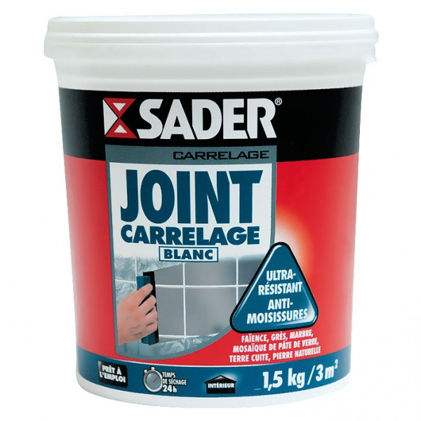 Joint Carrelage Blanc 1 5 Kg 30110751 Sader Home
