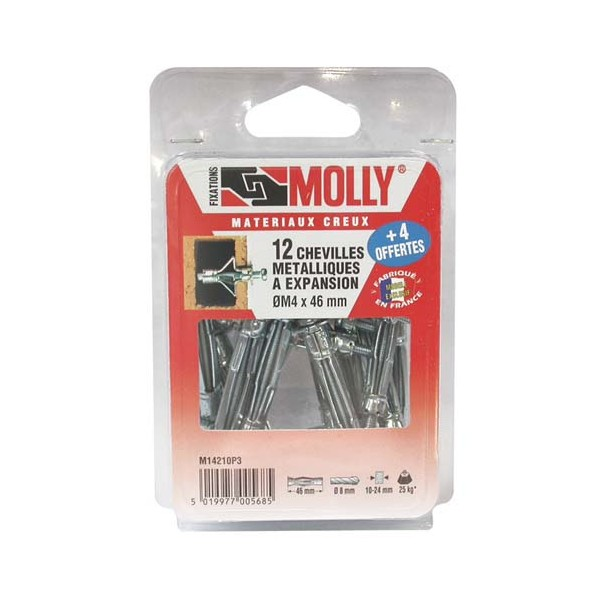 Cheville 4x46 mm vis m14210 molly home boulevard - Cheville molly poids ...