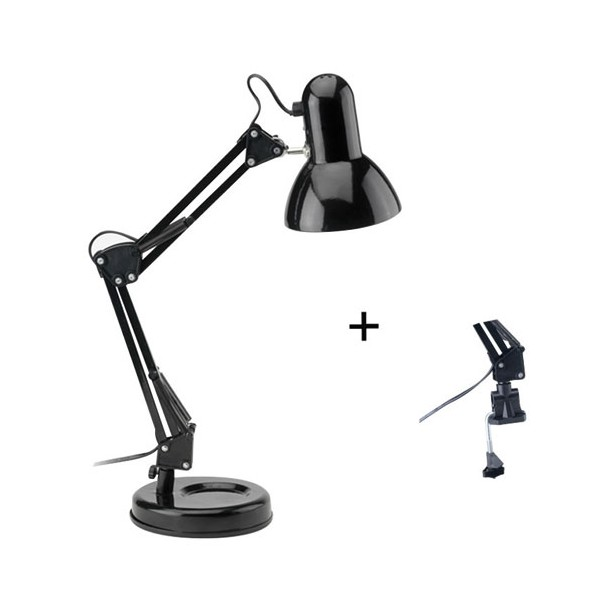 lampe bureau articul e noir 3481937 mathias luminaires. Black Bedroom Furniture Sets. Home Design Ideas
