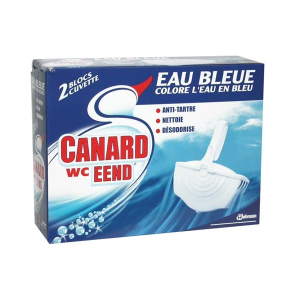 Lot de 2 blocs cuvette - eau bleue - CANARD WC