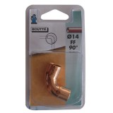 Courbe cuivre double femelle 90° - grand rayon - 14 mm