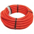 Tube PER gaine - rouge - D: 12 mm - 15 m