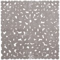 Tapis douche Cabourg gris - 54x54 cm  - G0666545413 - Bindouch'