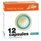 Lot de 12 capsules Familia Wiss pour terrine - D: 82 mm