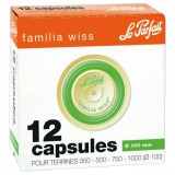 Lot de 12 capsules Familia Wiss pour terrine - D: 100 mm