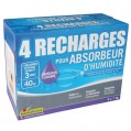 Recharge absorbeur - lot de 4 - lavande - 1 Kg