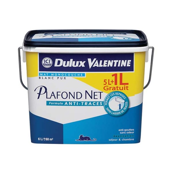 peinture plafond net blanc 5 l 5110878 dulux valentine. Black Bedroom Furniture Sets. Home Design Ideas
