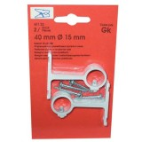 Support - lot de 2 - aluminium plastifié court - 40 mm