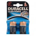 Lot de 2 piles alcalines LR14 Ultra Power - C - 11098 - Duracell