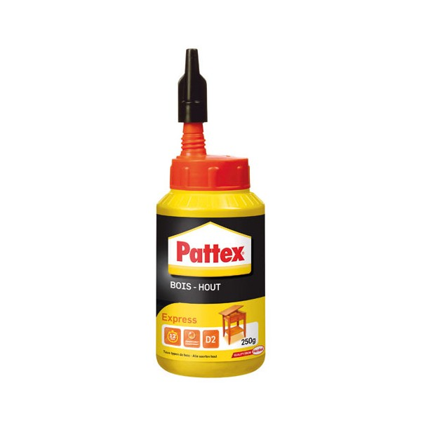 Colle bois - express - 250 g  - 1419263 - PATTEX