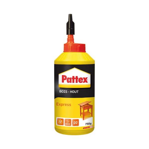 Colle bois - express - 750 g  - 1419264 - PATTEX
