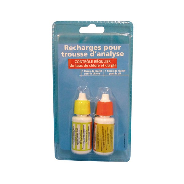 Recharge pour trousse analyseur - chlore et pH - 8010209 - BLUE POINT COMPANY