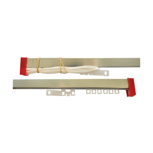 Tringle double rideau aluminium 3m 243021 mobois - Tringle rideau double ...