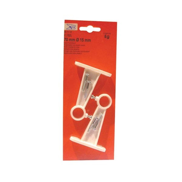 Support - lot de 2 - blanc - plastique - 70 mm - 61116 - VYNEX