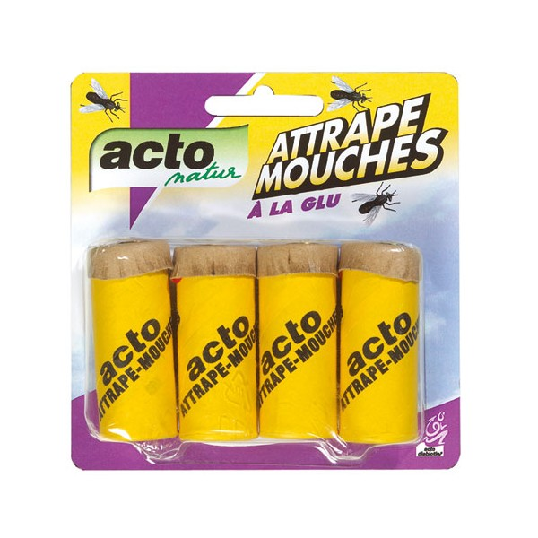 Attrape mouches - lot de 4 - à la glu - ACTO