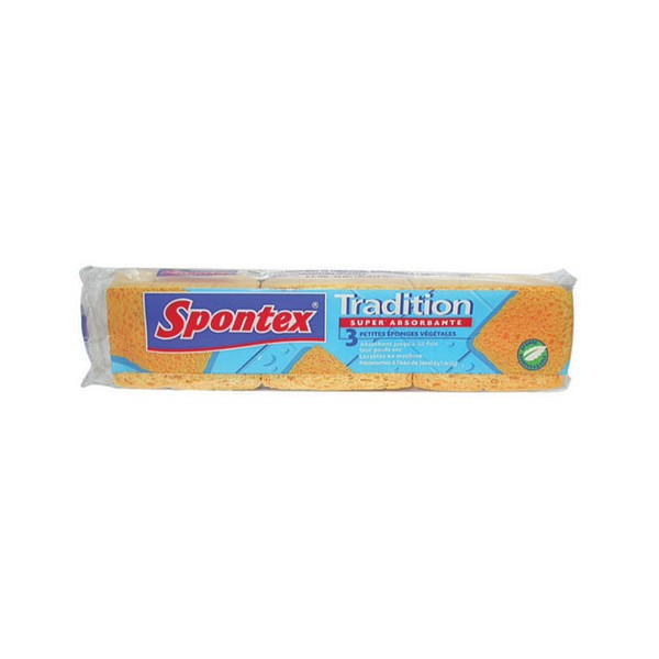 Lot de 3 éponges Tradition n°2 - super absorbante - SPONTEX