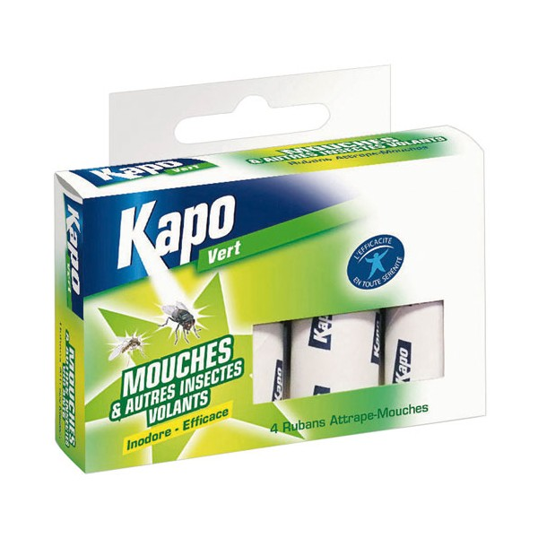 Ruban anti-mouches - lot de 4 - KAPO