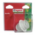 Douille E27 demi-fileté + bague - 150 W - 91134 - Legrand