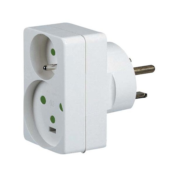 Adaptateur 2 phases + terre - 16 A - 20 A - 32 A - 90035 - LEGRAND