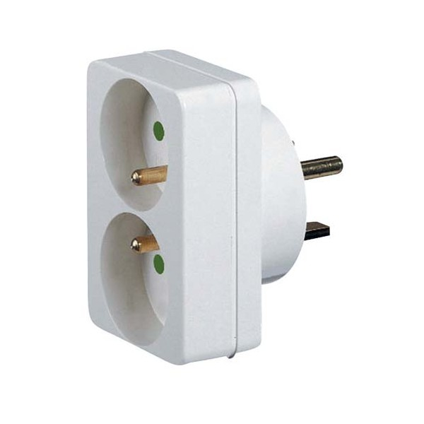 Adaptateur double prise 2 phases + terre - 16 A - 20 A - 90038 - LEGRAND