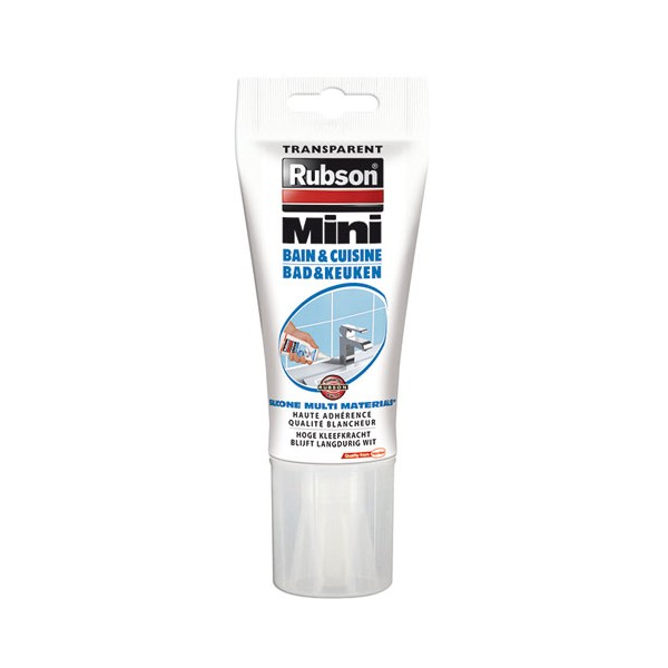 Mastic sanitaire - silicone - transparent - 150 mL - 830683 - RUBSON