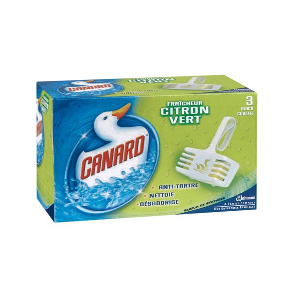 Lot de 3 scratchs de Canard WC - citron - SC JOHNSON
