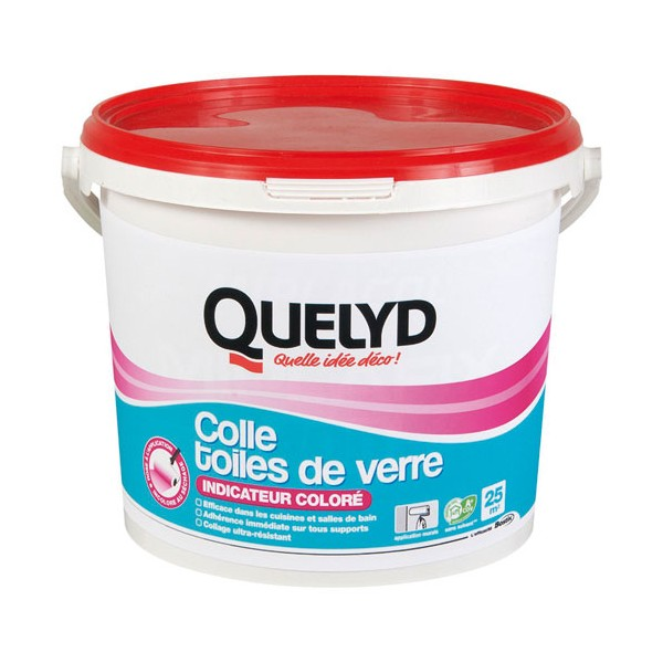 Colle toiles de verre - avec indicateur coloré - 5 Kg  - 30240300 - QUELYD