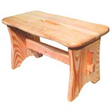 Tabouret bas en pin naturel - H 22 cm