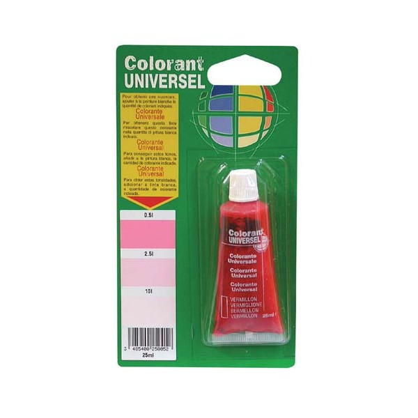 Colorant - vermillon - 25 mL - 11003988 - COLORANT UNIVERSEL