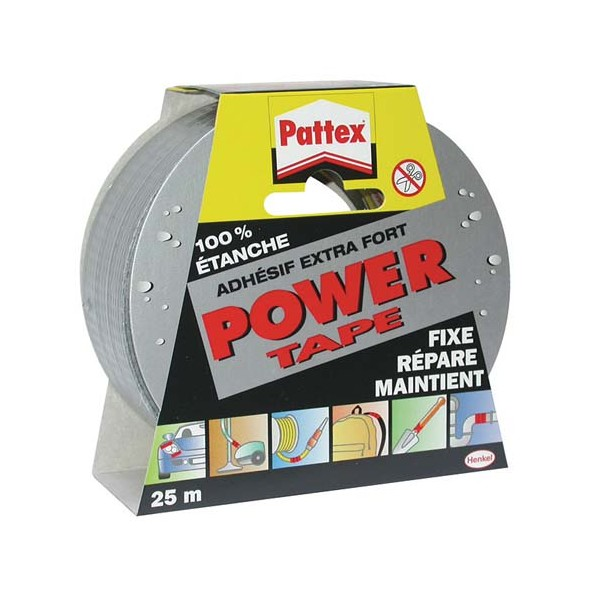 Ruban adhésif Power Tape - gris - 25 m - 1669214 - PATTEX