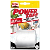Ruban adhésif Power Tape - blanc - 5 m