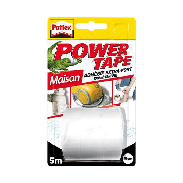 Ruban adhésif Power Tape - blanc - 5 m - 1658095 - PATTEX
