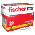 Cheville nylon - lot de 100 - S 7 - 56106 - Fischer