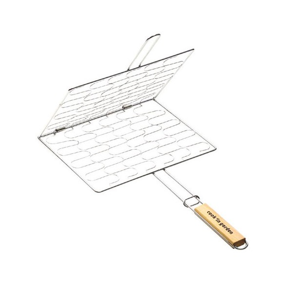 Grille barbecue enveloppante - 34x28 mm - GB205 - COOK'IN GARDEN