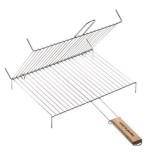 Grille barbecue double + pied - 30x40 cm