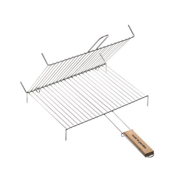 Grille barbecue double + pied - 30x40 cm - GR211 - COOK'IN GARDEN