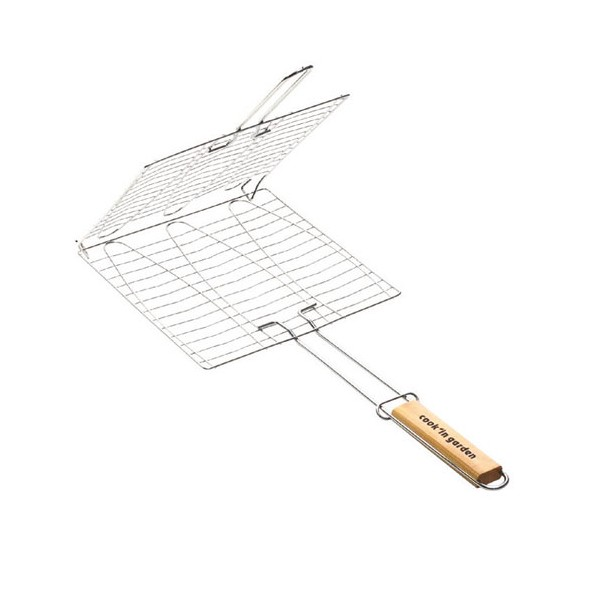 Grille barbecue 3 poissons - 30x28 cm - GB203 - COOK'IN GARDEN