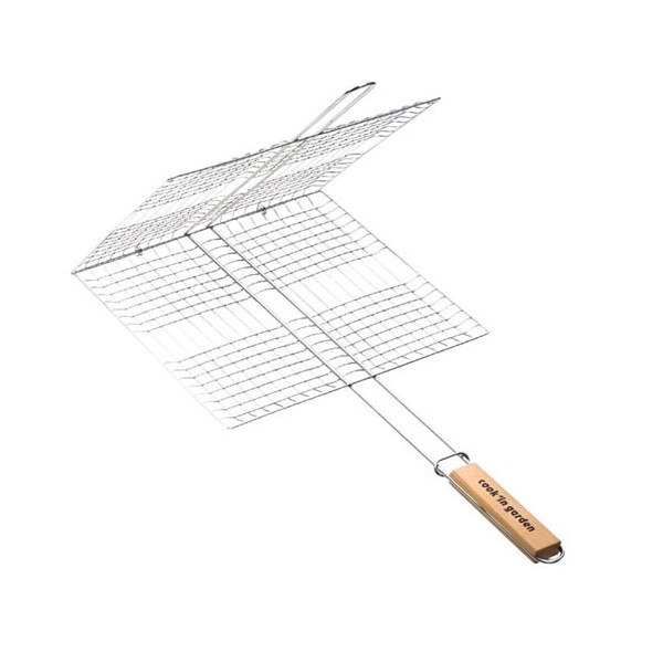 Grille barbecue cage double - 35x25 cm - GR208 - COOK'IN GARDEN