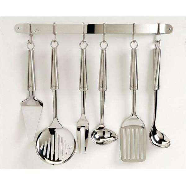 Tringle suspension cuisine l 44 cm inox 12335390100 for Suspension inox cuisine