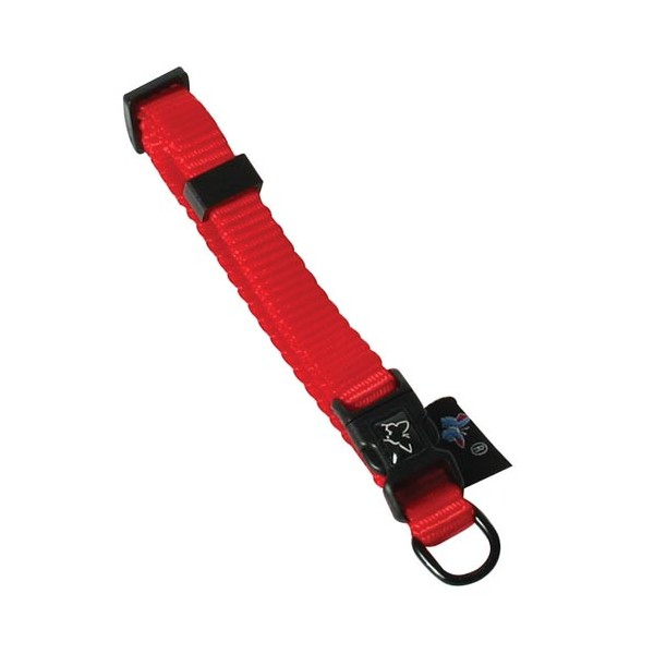 Collier nylon réglable - rouge - 30/45 cm - 12111.1 - MARTIN SELLIER