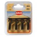 Agrafe simple - lot de 12 - marron - D: 35 mm  - 7810CN - Mobois