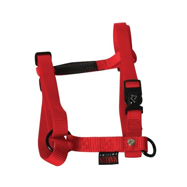 Harnais nylon réglable - 70/90 cm - rouge - 12118 1 - MARTIN SELLIER