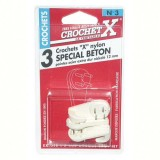 Crochet béton nylon - n°3 - lot de 3